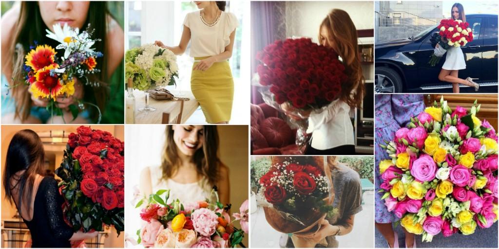 Идеи фото с букетом цветами дома
